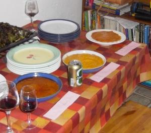 Three Romesco Sauces waiting to be tried.